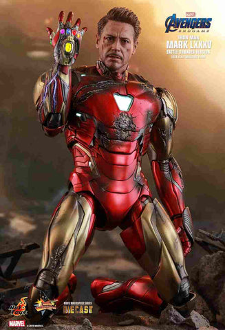 Avengers: Endgame Iron Man Mark LXXXV (85) Battle Damaged Version MMS543D33 1/6 Figure by Hot Toys