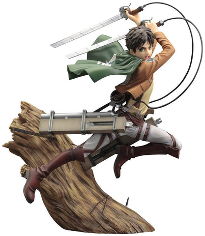 ATTACK ON TITAN Eren Yeager Renewal Package Ver. ArtFX J Statue