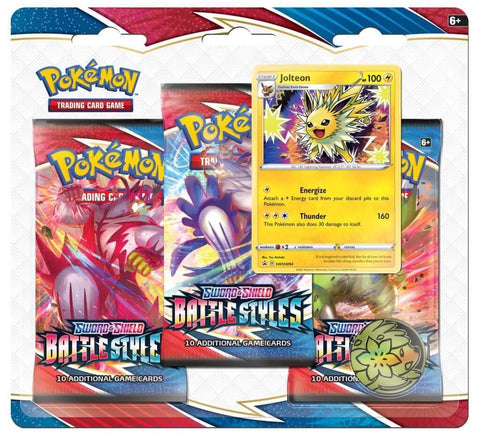 POKÉMON TCG Sword and Shield - Battle Styles Jolteon Three Booster Blister
