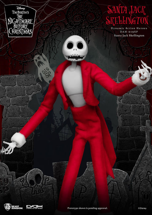 The Nightmare Before Christmas Santa Jack Skellington Beast Kingdom Dynamic Action Heroes