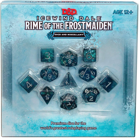 D&D Dungeons & Dragons Icewind Dale Rime of the Frostmaiden Dice and Misecellany