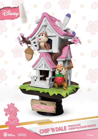 Disney Chip n Dale Treehouse Cherry Blossom Version Beast Kingdom D Stage Statue