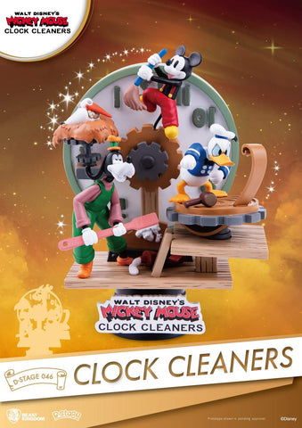 Disney Mickey Mouse Clock Cleaners Beast Kingdom D Stage