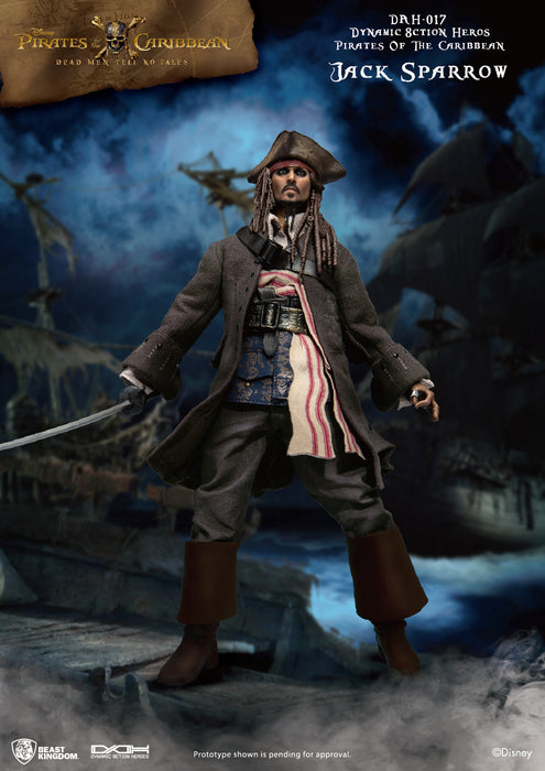 Pirates of the Caribbean Captain Jack Sparrow - Beast Kingdom Dynamic Action Heroes