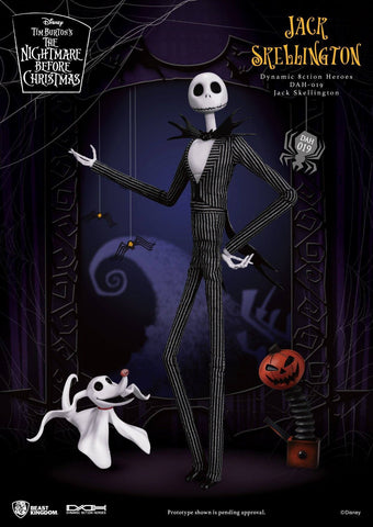 Beast Kingdom Dynamic Action Heroes The Nightmare Before Christmas Jack Skellington and Zero