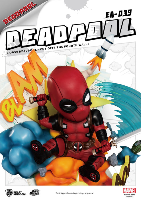 Deadpool Cut Off! The Fourth Wall! Beast Kingdom Egg Attack Statue