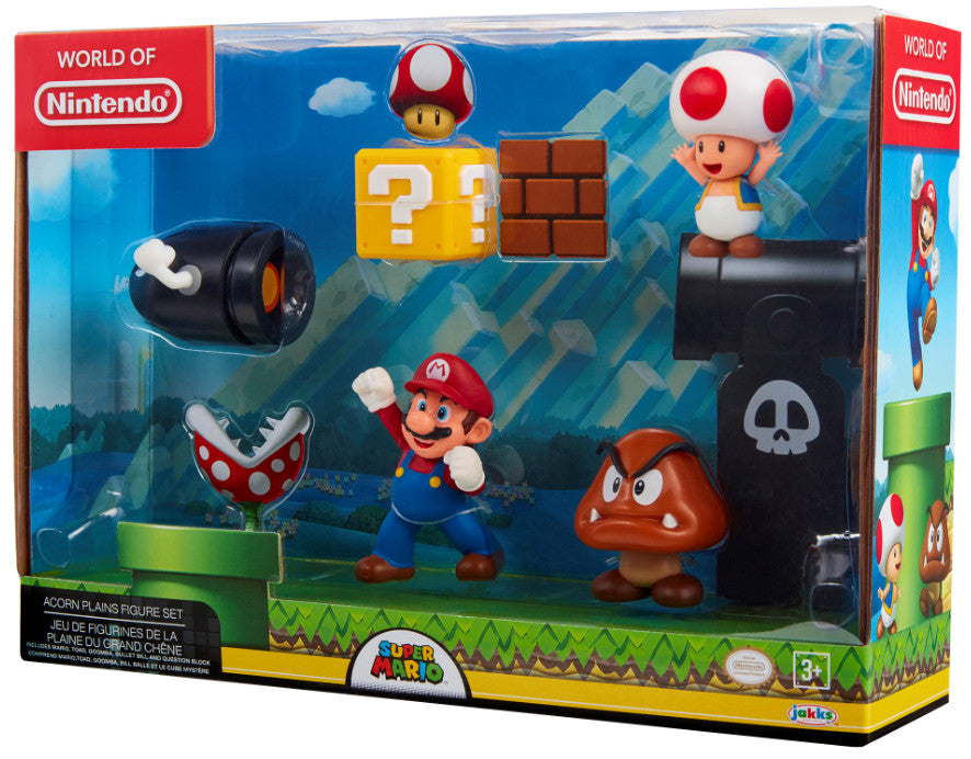 "World of Nintendo 2.5"" Acorn Plains Figure Set (5 Figures)"