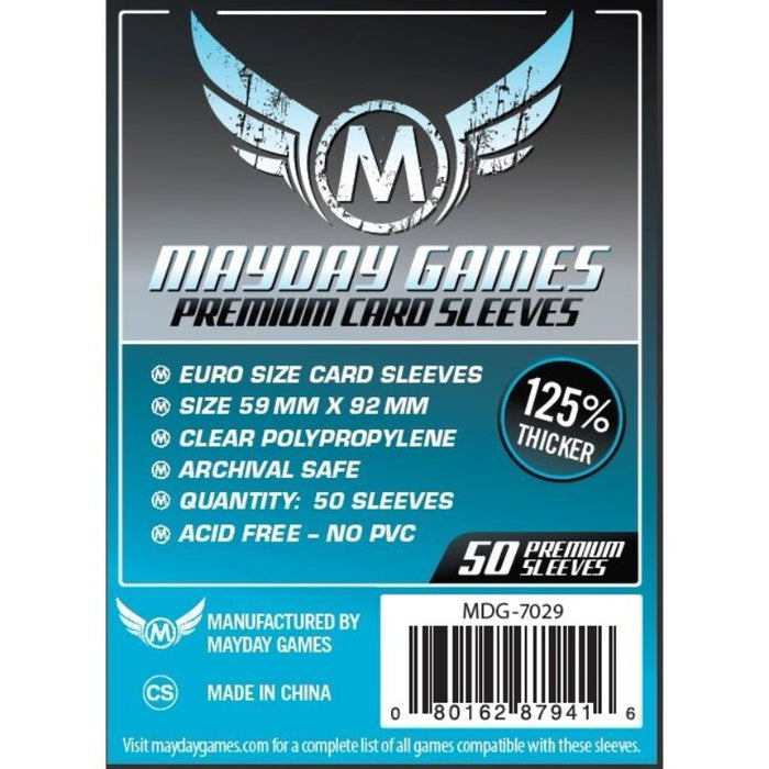 Mayday - Premium Euro Card Sleeve (125% thicker) (Pack of 50) - 59 MM X 92 MM