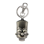 The Simpsons Bart Simpson Keyring Pewter