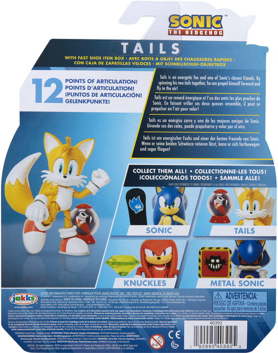 "Sonic the Hedgehog 4"" Articulated Figures with Accessory Wave 2 Modern Tails"