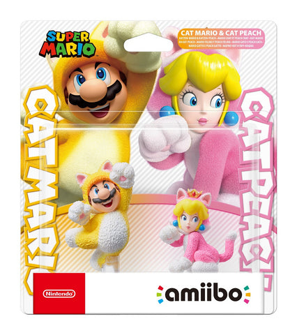 amiibo Cat Mario & Cat Peach Double Pack