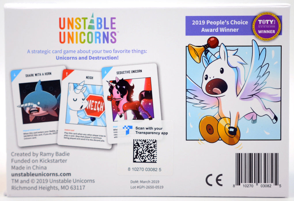 Unstable Unicorns Base Game