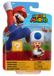 "World of Nintendo Super Mario 4"" Figure - Blue Toad with Question Block"