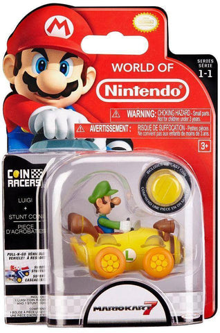 World of Nintendo Super Mario Coin Racers Wave 1 - Luigi
