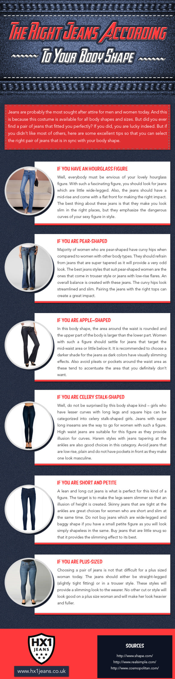 Choose the Right Jeans According to Your Body Shape [Infographic]