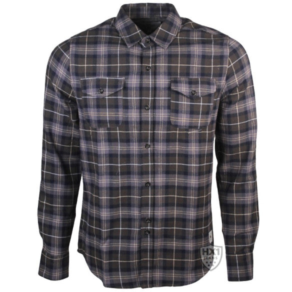 Bellfield Lowe Green & Grey Checked Long Sleeved Shirt