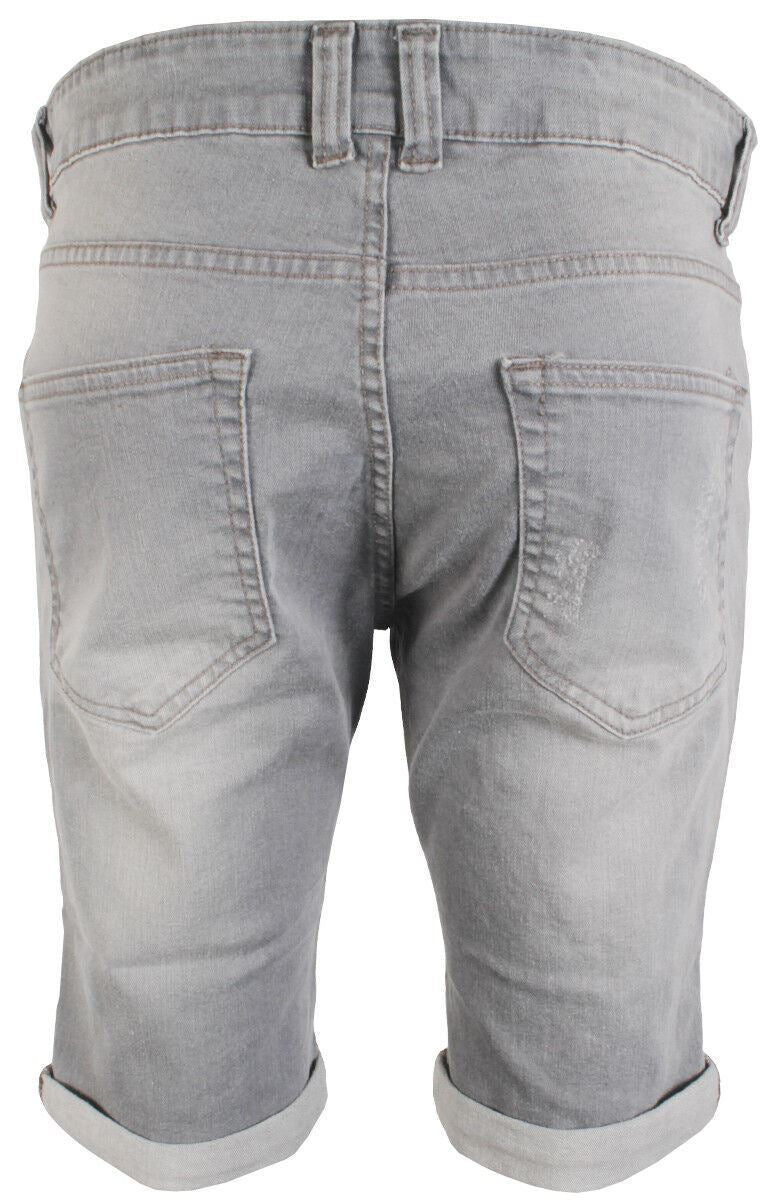 Mens Latest Enzo EZS383 Grey Denim Shorts