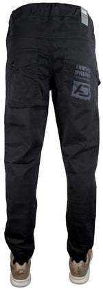 AD  Mens Cuffed Jogger Chino Jeans Slim Navy
