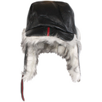 Mens Designer Style Russian Fur Hat Black