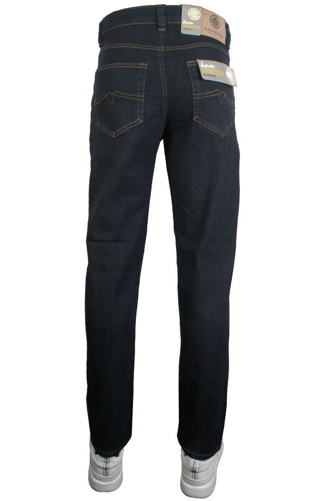 Kam Mens K101-02 Regular Fit Stretch Jeans Indigo