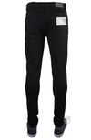 Mens Plain Black Super Skinny Stretch Jeans Enzo Ez326 Sizes 28-40