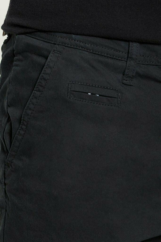DML Sabre Mens Slim Fit Stretch Premium Black Chino Pants