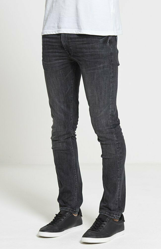 DML Mens Ace Slim Fit Jeans Charcoal Grey 511