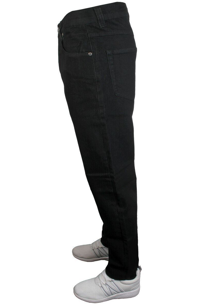 Kam Mens K101-06 Regular Fit Stretch Jeans Black