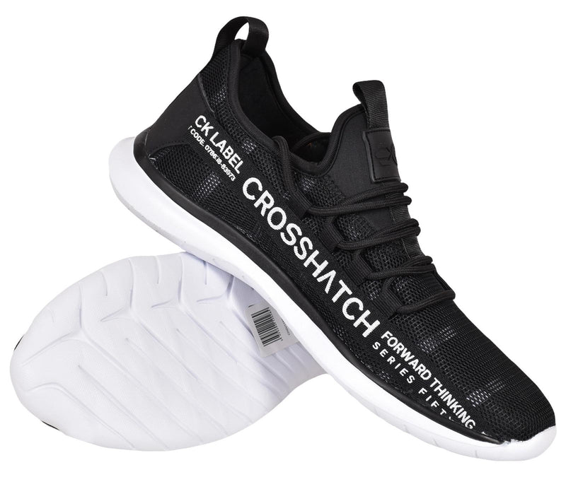 Mens Latest Crosshatch Trainers Fashion Sneakers Dhalstrom Black