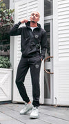 Mens Fashion Gym Sports Hx1 Jeans Tracksuit In Black Sale Offer King