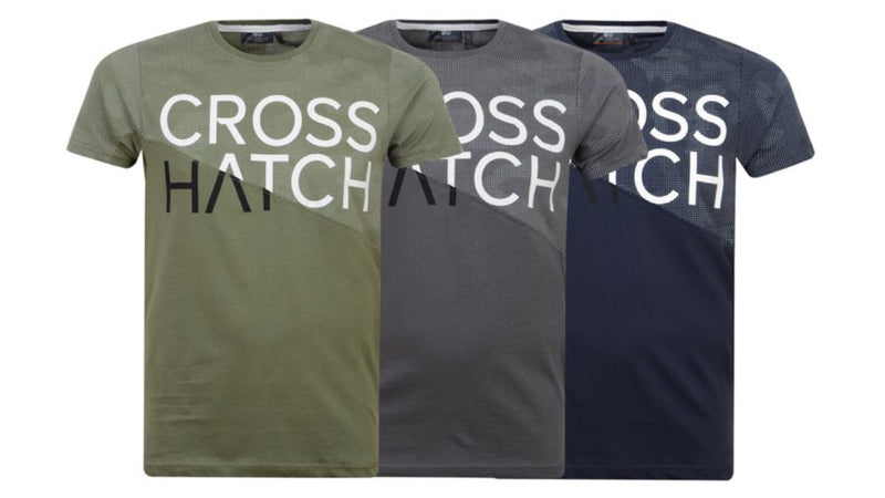 Mens Crosshatch Kamply Crew Neck T Shirt
