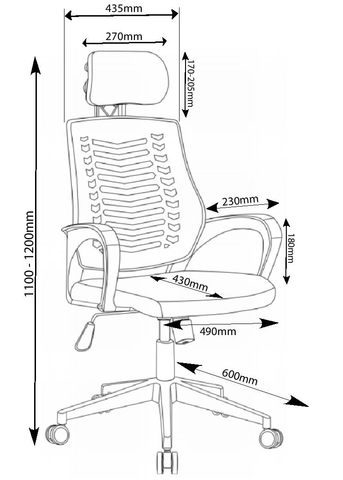 Branson Chair Dimensions
