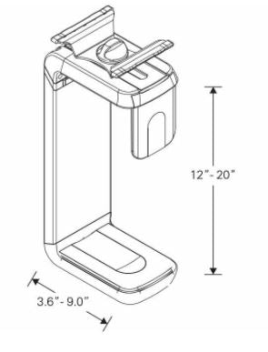 Humanscale CPU Holder 600 Specifications
