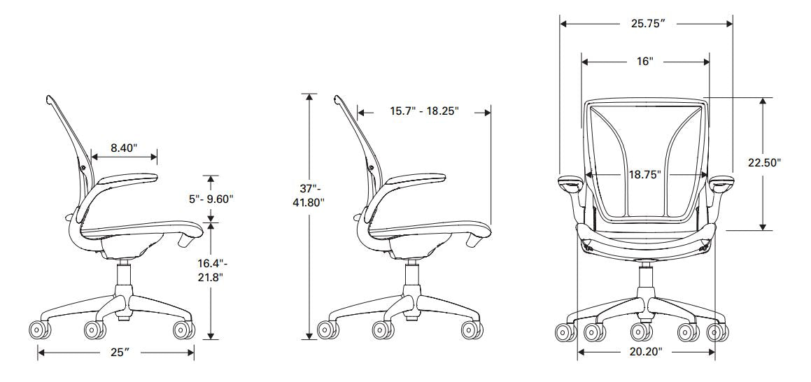 Humanscale World One Chair Specifications