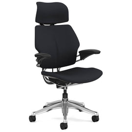 Humanscale's Freedom Chair with Headrest & Black Leather