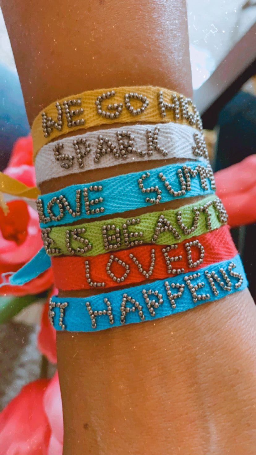 Friendship Phrase Bracelet
