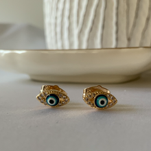 Load image into Gallery viewer, Blue Ojitos Earrings