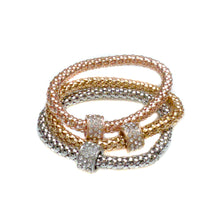 Load image into Gallery viewer, Rose, Silver & Gold Bracelet set-women