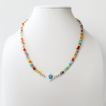 Load image into Gallery viewer, Colorful Beads Fatima Hand Necklace