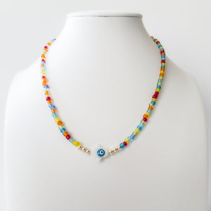 Colorful Beads Fatima Hand Necklace