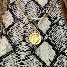 Load image into Gallery viewer, 18K Gold Coin Pendant Necklace