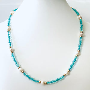 Turquoise with Pearls Necklace