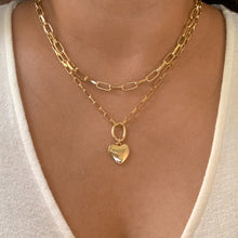 Load image into Gallery viewer, Double Layered Heart Necklace
