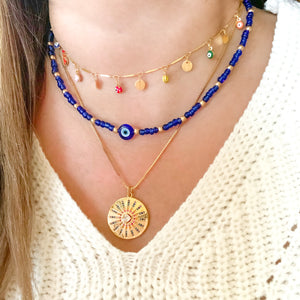 Colorful Circle Pendant Necklace