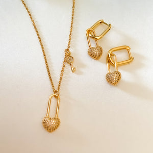 Set of Love Necklace & Earrings