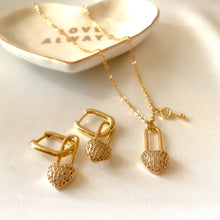 Load image into Gallery viewer, Set of Love Necklace & Earrings
