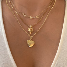 Load image into Gallery viewer, Triple Layer Angel Love Heart Necklace