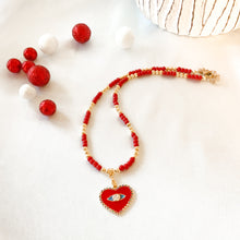 Load image into Gallery viewer, Red & Gold Necklaces
