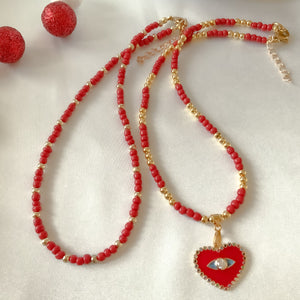 Red & Gold Necklaces