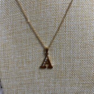 Letter  M & A Pendant Necklace